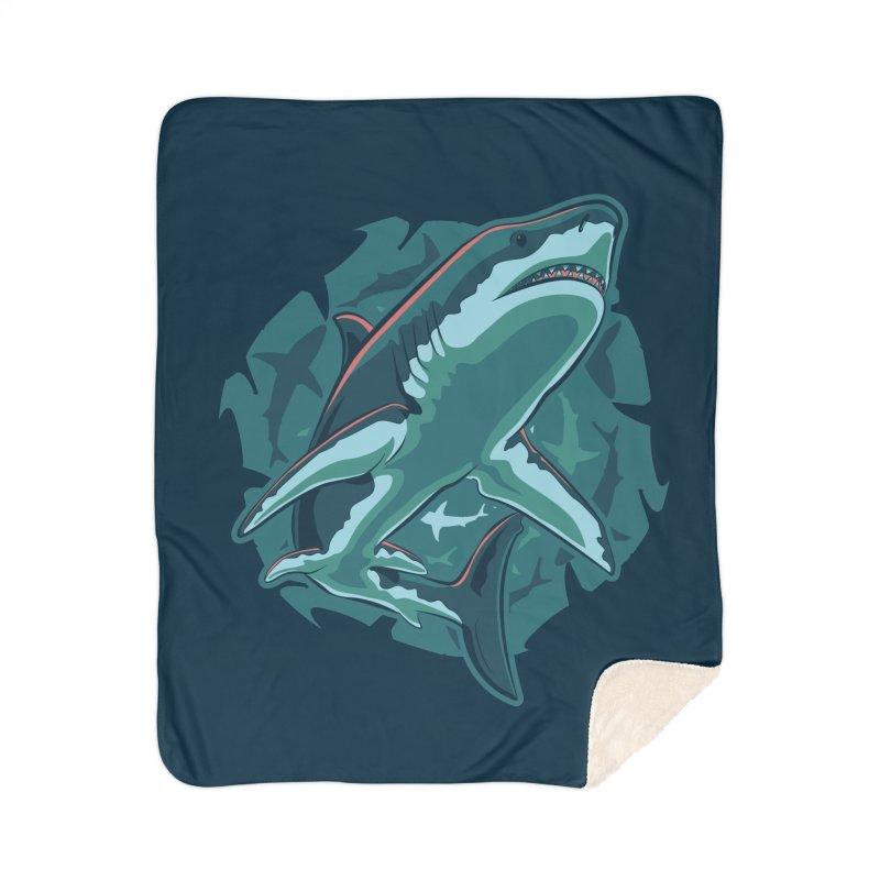 Top Predator Home Sherpa Blanket Blanket by Stephen Hartman Illustration Shop