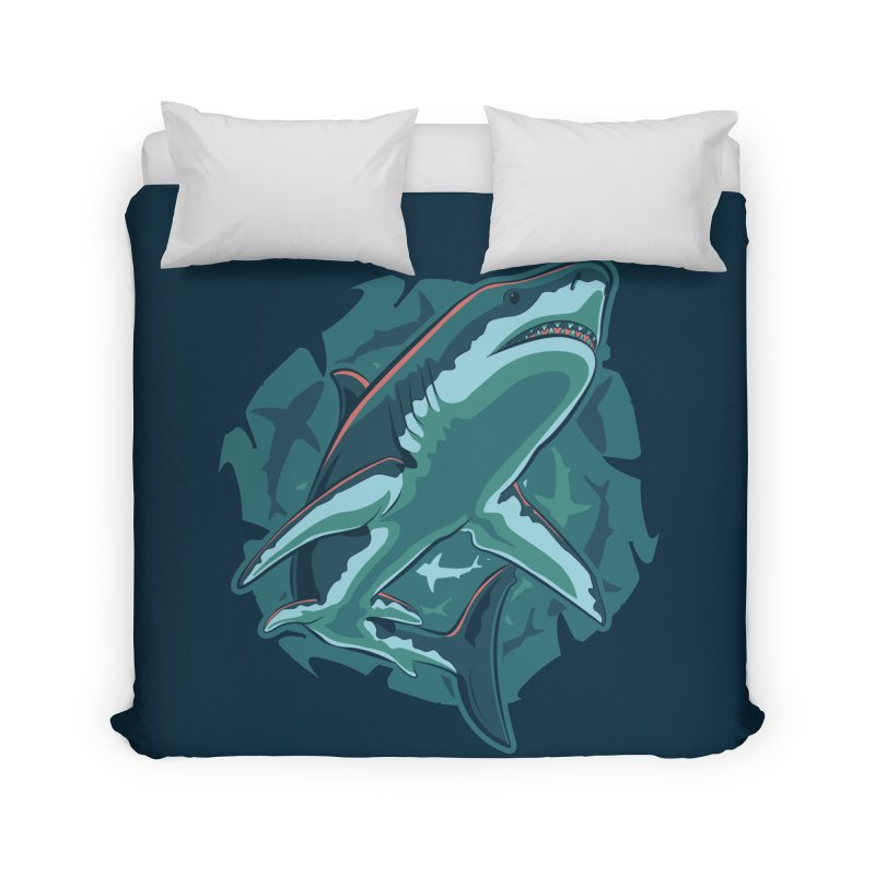 Top Predator Home Duvet by Stephen Hartman Illustration Shop
