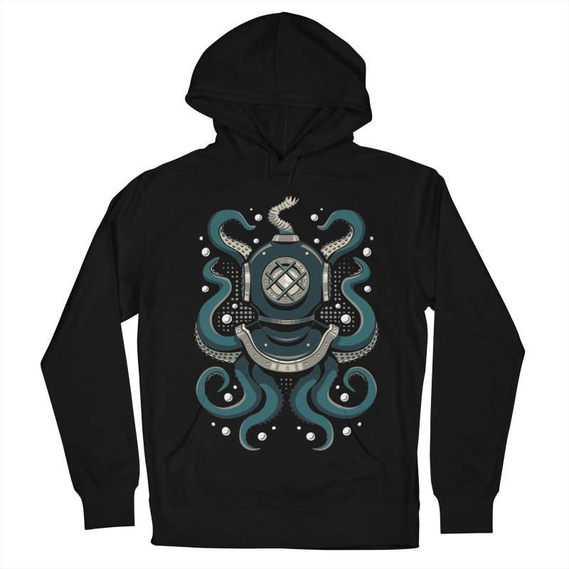 Nautical Depths Men's French Terry Pullover Hoody by Stephen Hartman Illustration Shop