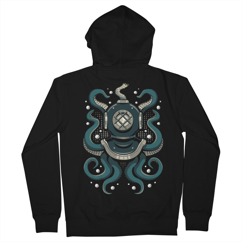 Nautical Depths Men's French Terry Zip-Up Hoody by Stephen Hartman Illustration Shop