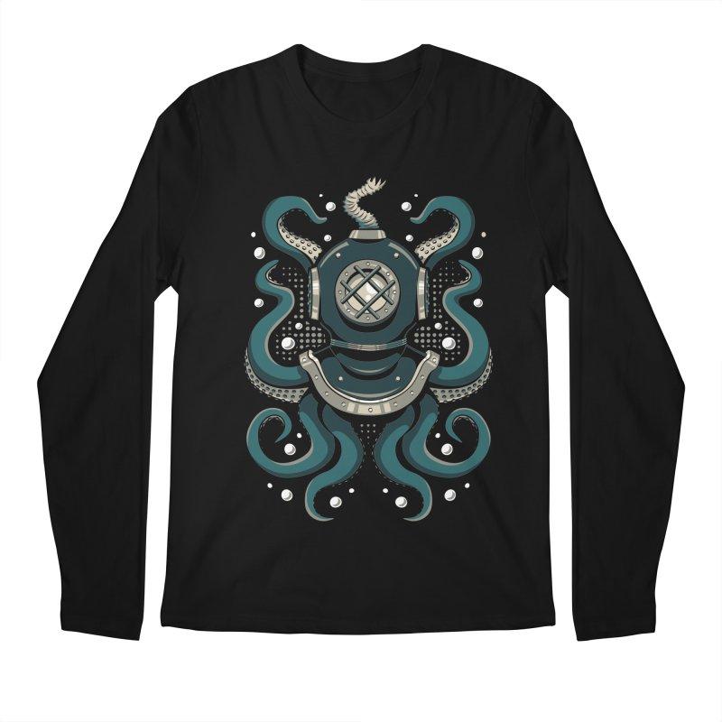 Nautical Depths Men's Regular Longsleeve T-Shirt by Stephen Hartman Illustration Shop