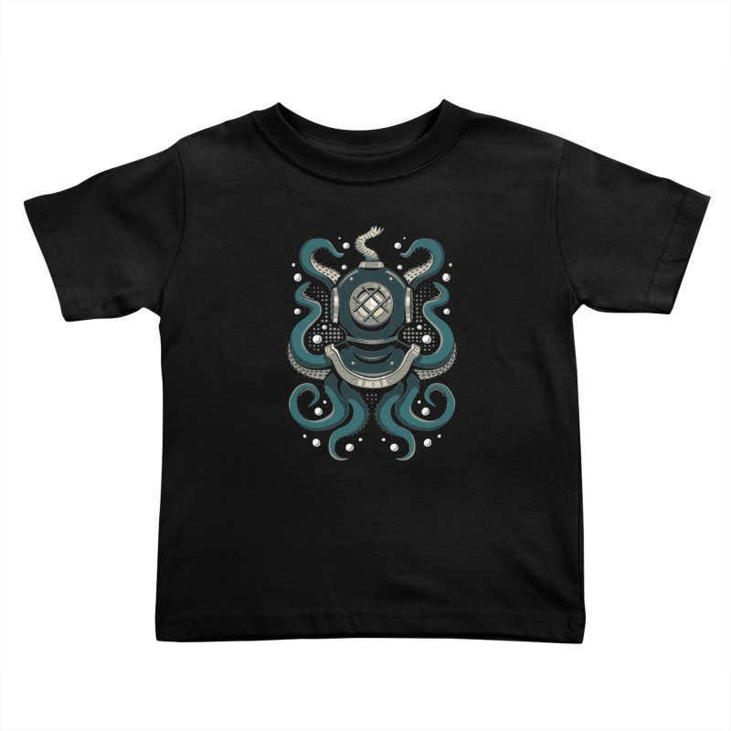 Nautical Depths Kids Toddler T-Shirt by Stephen Hartman Illustration Shop