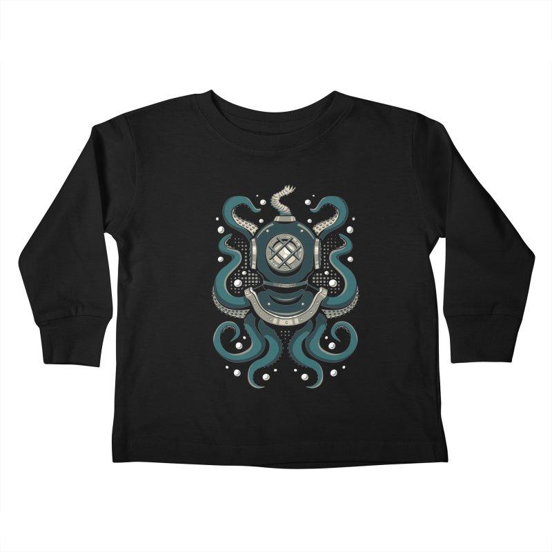 Nautical Depths Kids Toddler Longsleeve T-Shirt by Stephen Hartman Illustration Shop