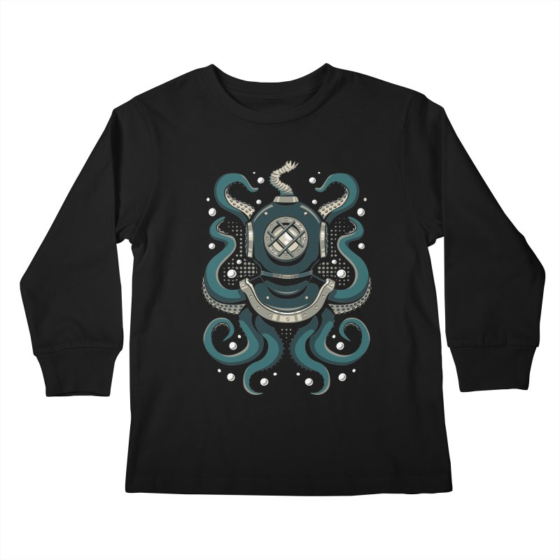 Nautical Depths Kids Longsleeve T-Shirt by Stephen Hartman Illustration Shop