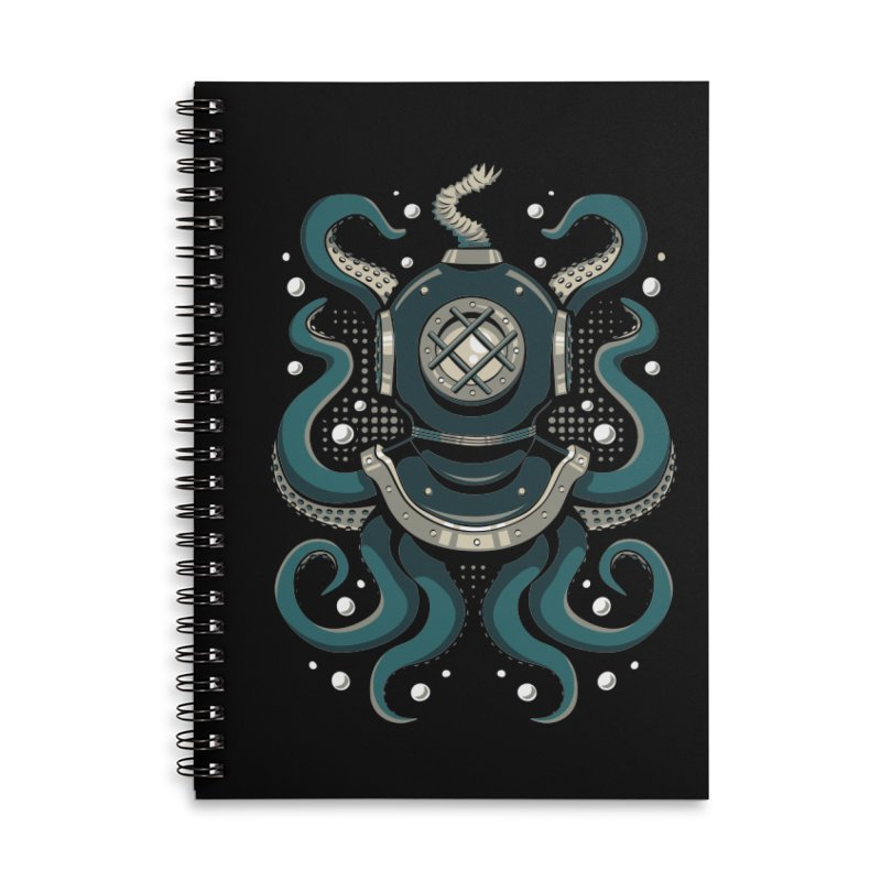 Nautical Depths Accessories Lined Spiral Notebook by Stephen Hartman Illustration Shop