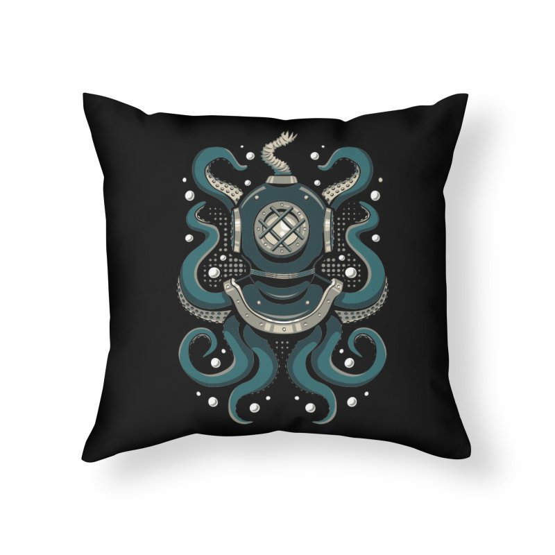 Nautical Depths Home Throw Pillow by Stephen Hartman Illustration Shop
