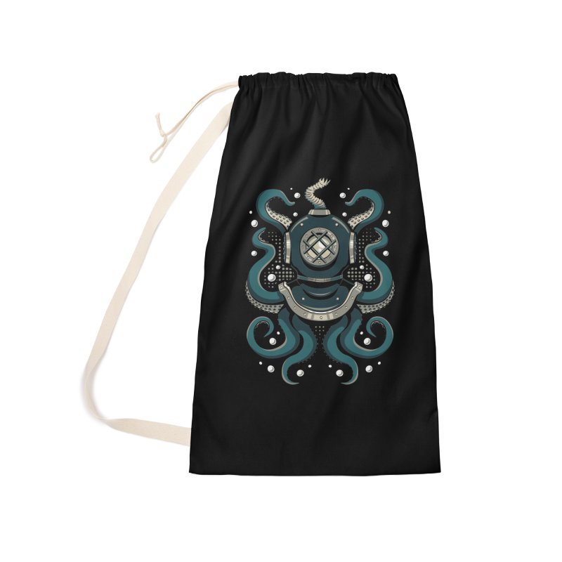 Nautical Depths Accessories Laundry Bag Bag by Stephen Hartman Illustration Shop