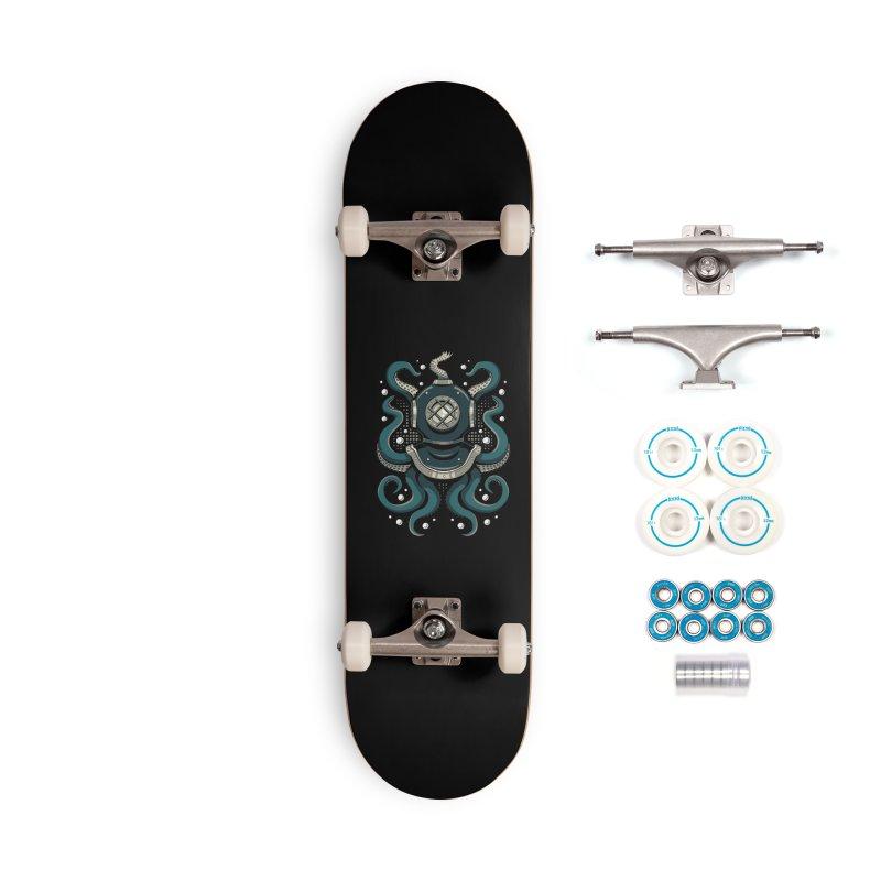 Nautical Depths Accessories Complete - Basic Skateboard by Stephen Hartman Illustration Shop