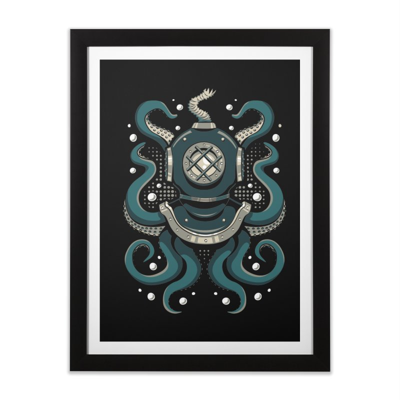 Nautical Depths Home Framed Fine Art Print by Stephen Hartman Illustration Shop