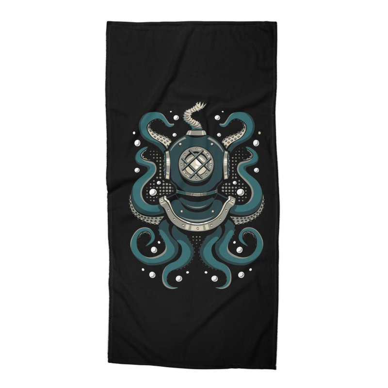 Nautical Depths Accessories Beach Towel by Stephen Hartman Illustration Shop