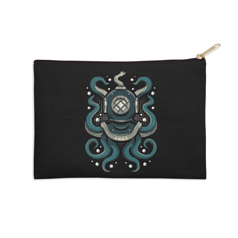 Nautical Depths Accessories Zip Pouch by Stephen Hartman Illustration Shop