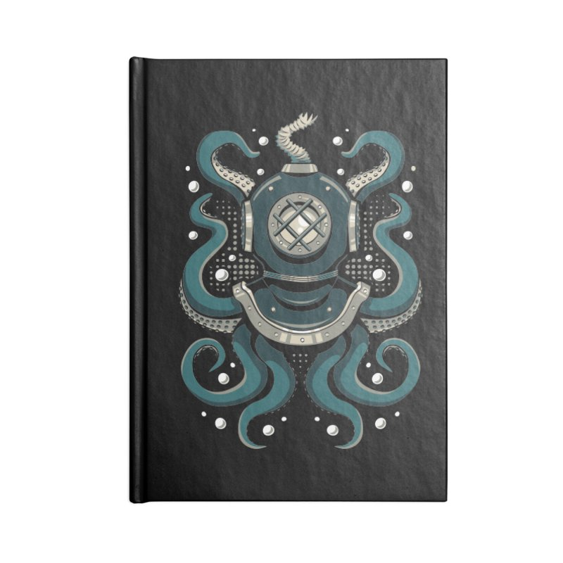 Nautical Depths Accessories Lined Journal Notebook by Stephen Hartman Illustration Shop