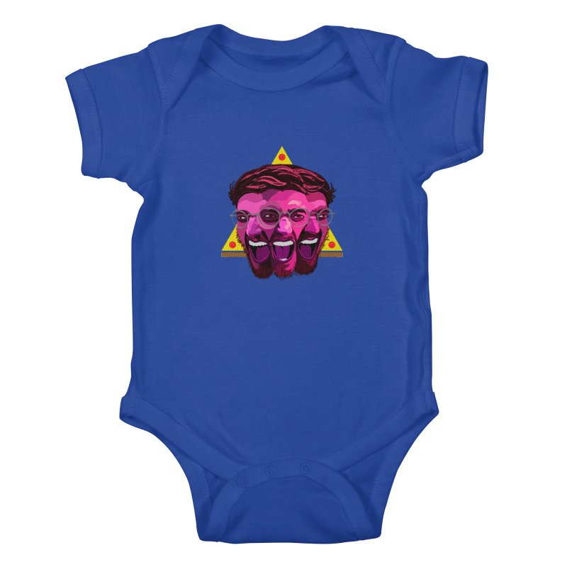 Pizza Spinning Dylan Kids Baby Bodysuit by Stephen Petronis's Shop