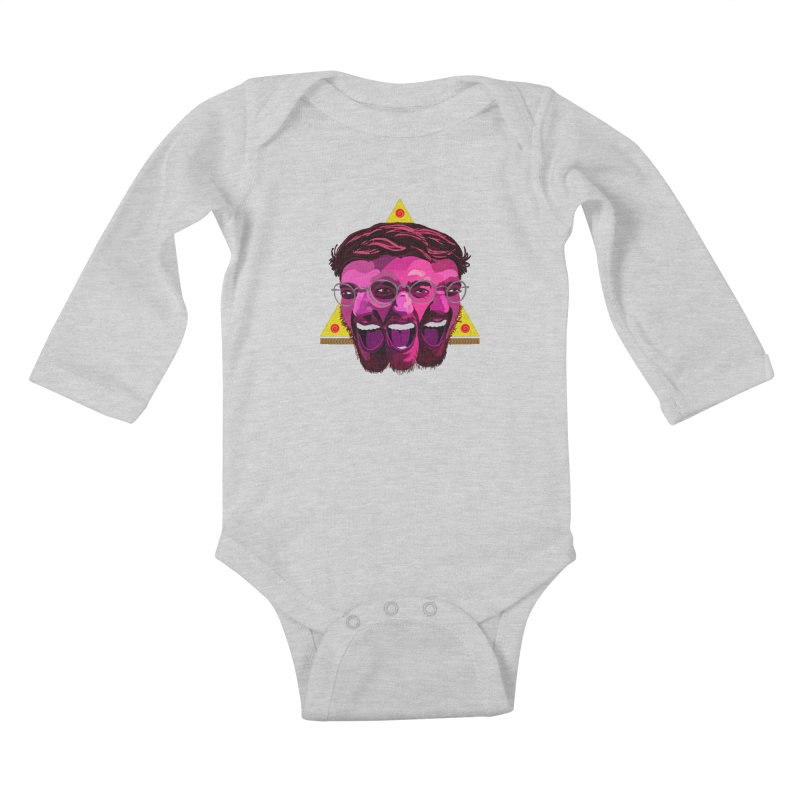 Pizza Spinning Dylan Kids Baby Longsleeve Bodysuit by Stephen Petronis's Shop