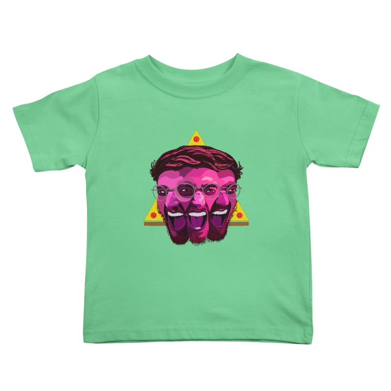 Pizza Spinning Dylan Kids Toddler T-Shirt by Stephen Petronis's Shop