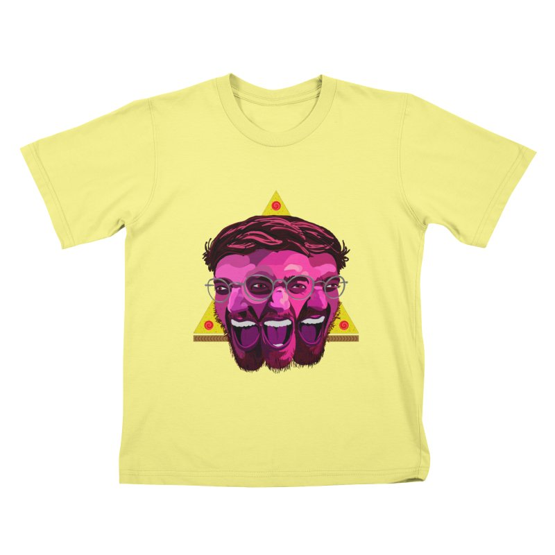 Pizza Spinning Dylan Kids T-shirt by Stephen Petronis's Shop