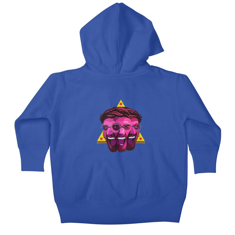 Pizza Spinning Dylan Kids Baby Zip-Up Hoody by Stephen Petronis's Shop