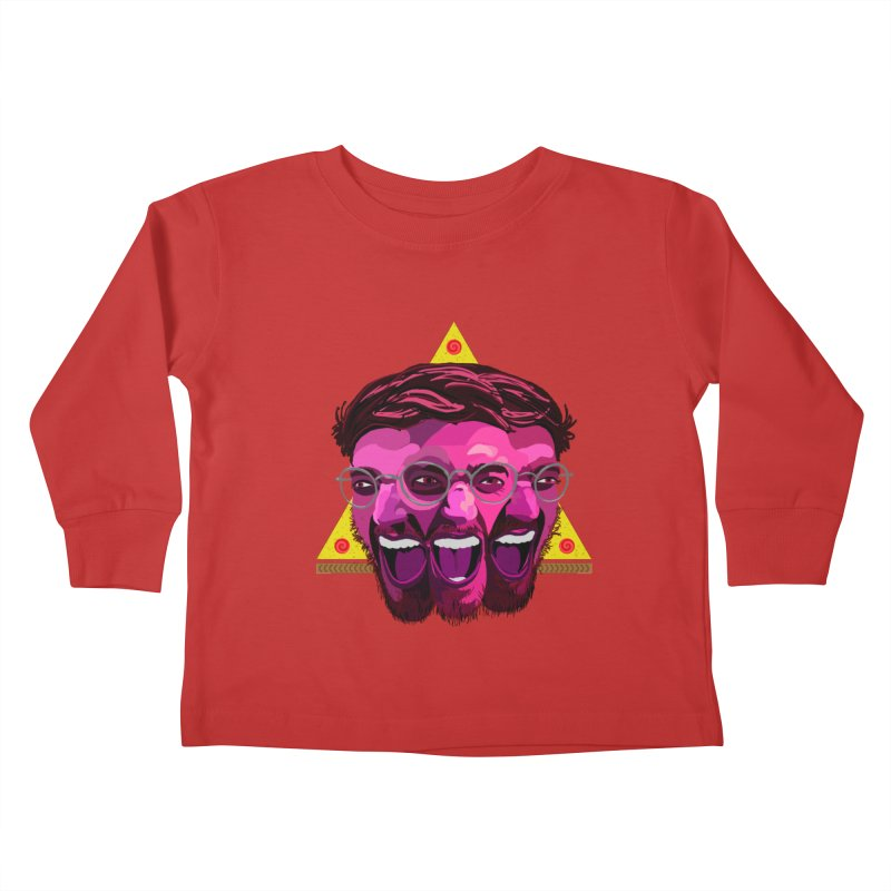 Pizza Spinning Dylan Kids Toddler Longsleeve T-Shirt by Stephen Petronis's Shop