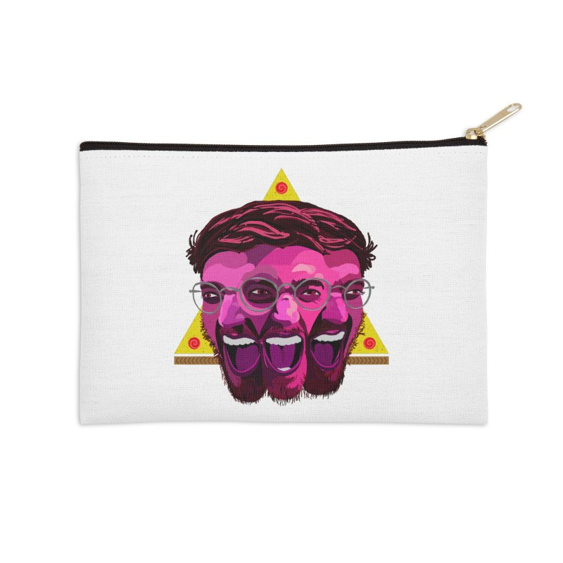 Pizza Spinning Dylan Accessories Zip Pouch by Stephen Petronis's Shop
