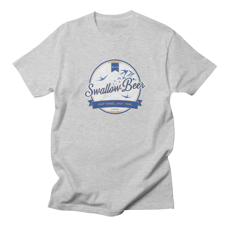 Let's Swallow Beer Men's T-shirt by StephStump
