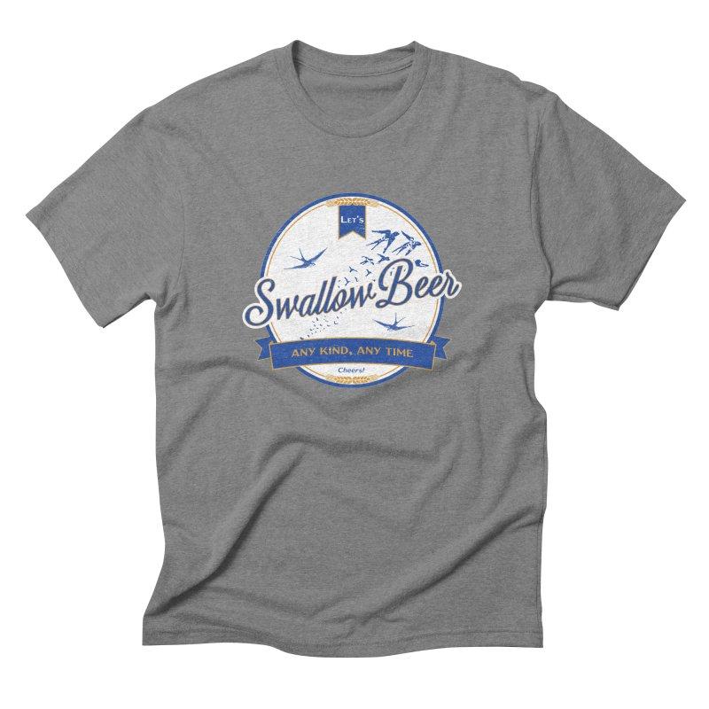 Let's Swallow Beer Men's Triblend T-shirt by StephStump