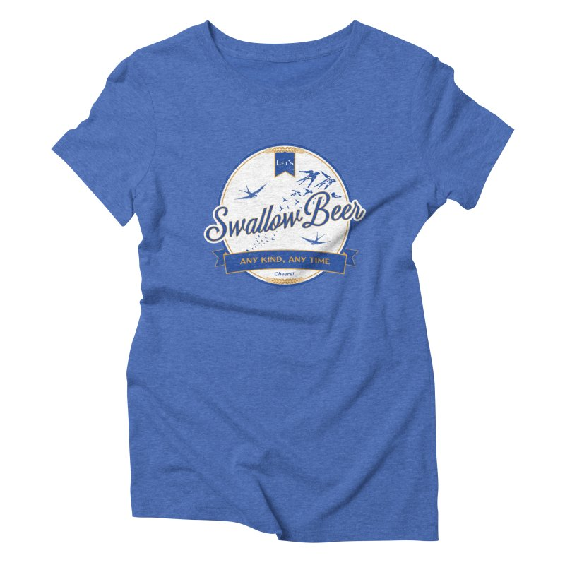 Let's Swallow Beer Women's Triblend T-Shirt by StephStump