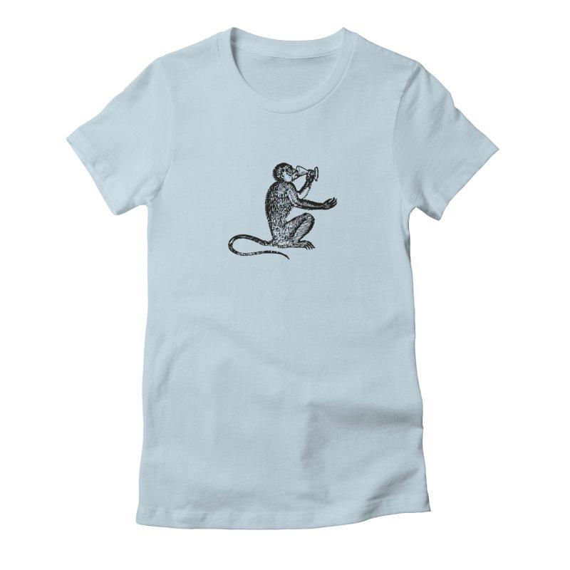 Drunken Monkey Women's Fitted T-Shirt by StephStump