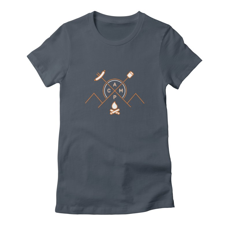 CAMP Women's Fitted T-Shirt by StephStump