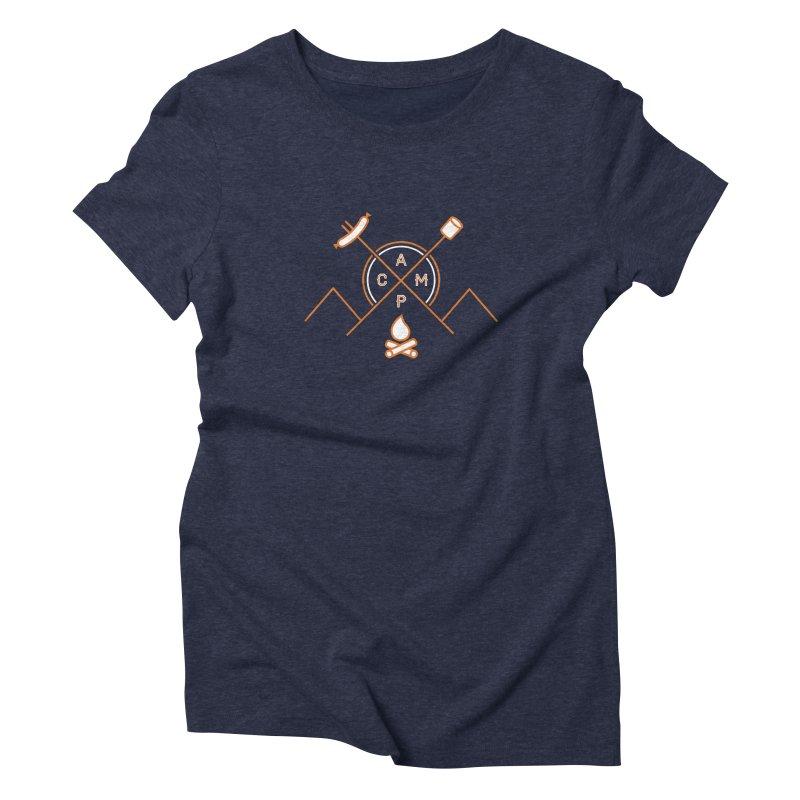 CAMP Women's Triblend T-shirt by StephStump
