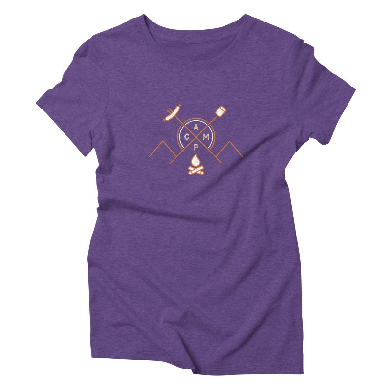 CAMP Women's Triblend T-Shirt by StephStump