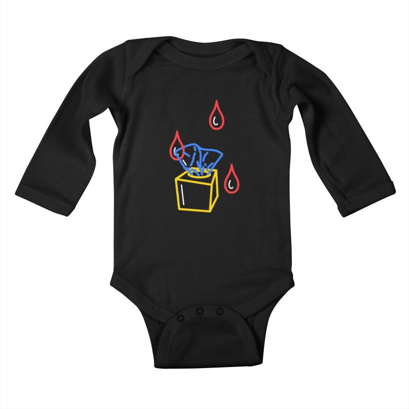 (T)ISSUES Kids Baby Longsleeve Bodysuit by stephupsidefrown's Artist Shop