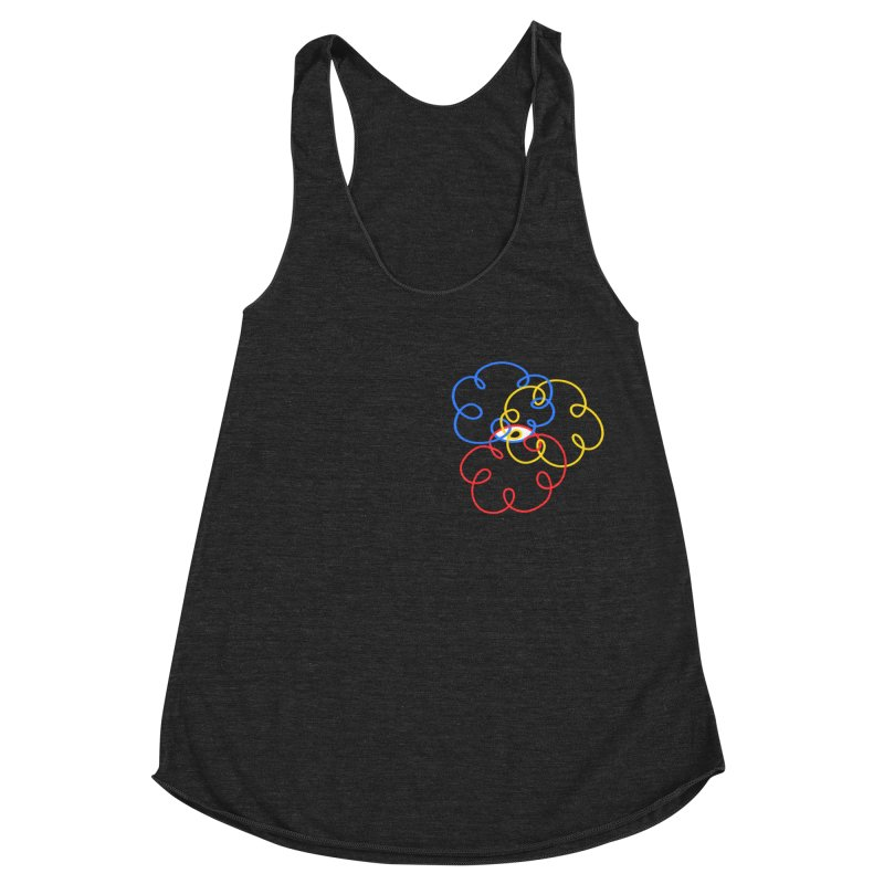 WHERES YOUR SOUL Women's Racerback Triblend Tank by stephupsidefrown's Artist Shop