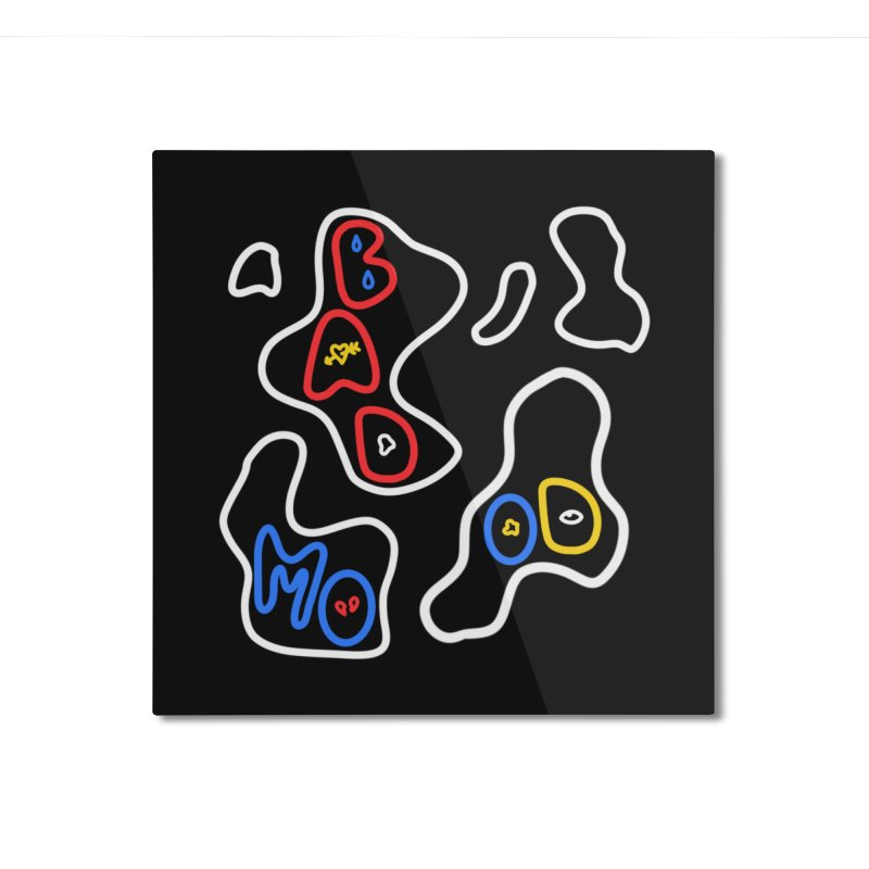 BAD MOO(D) Home Mounted Aluminum Print by stephupsidefrown's Artist Shop