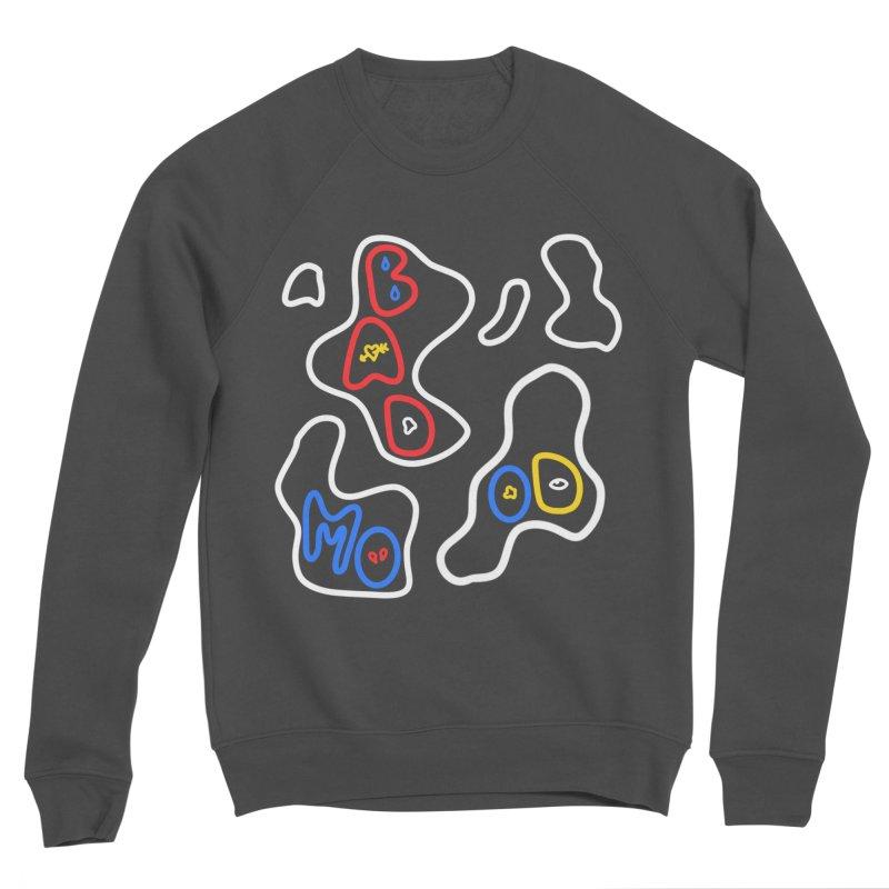 BAD MOO(D) Men's Sponge Fleece Sweatshirt by stephupsidefrown's Artist Shop