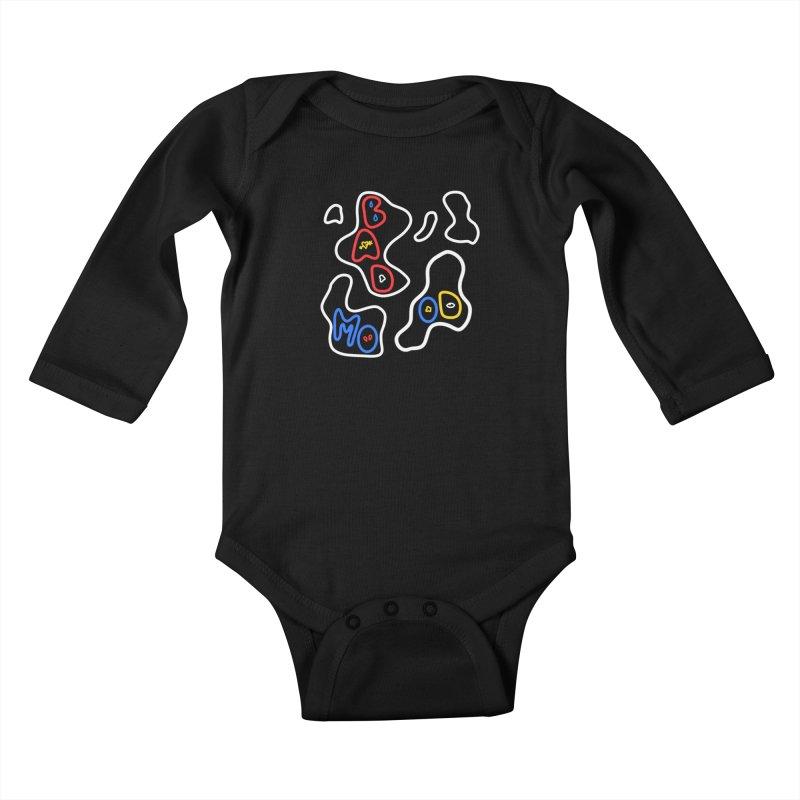 BAD MOO(D) Kids Baby Longsleeve Bodysuit by stephupsidefrown's Artist Shop