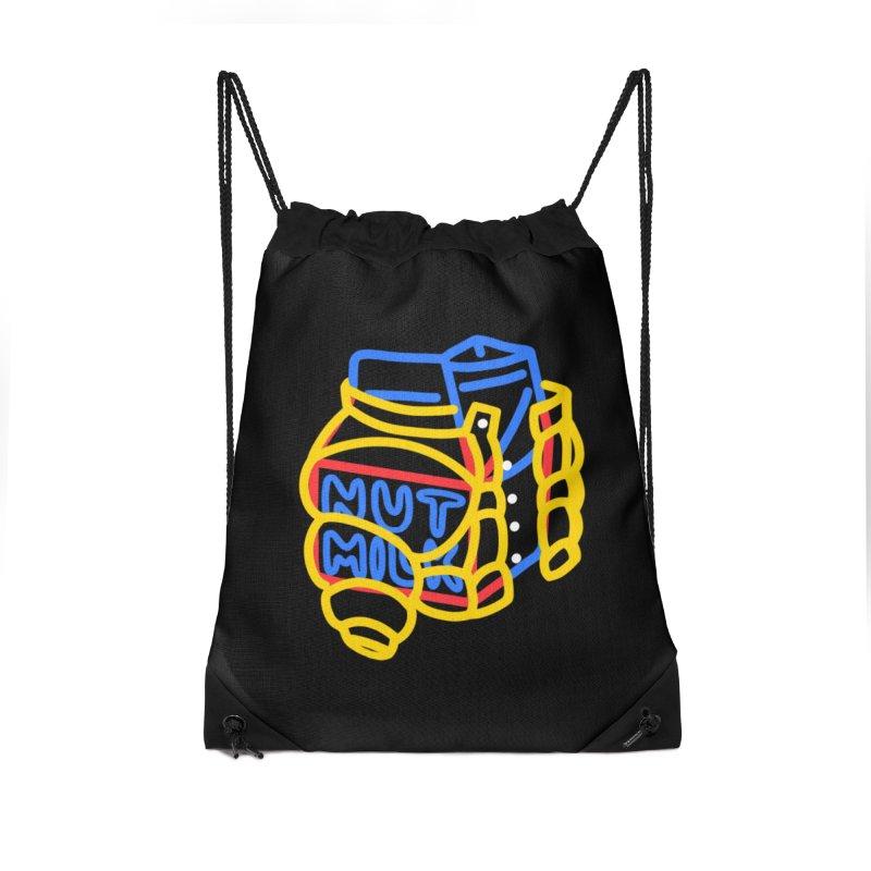 MUT NILK Accessories Drawstring Bag Bag by stephupsidefrown's Artist Shop