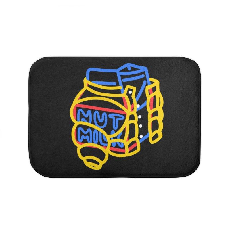 MUT NILK Home Bath Mat by stephupsidefrown's Artist Shop