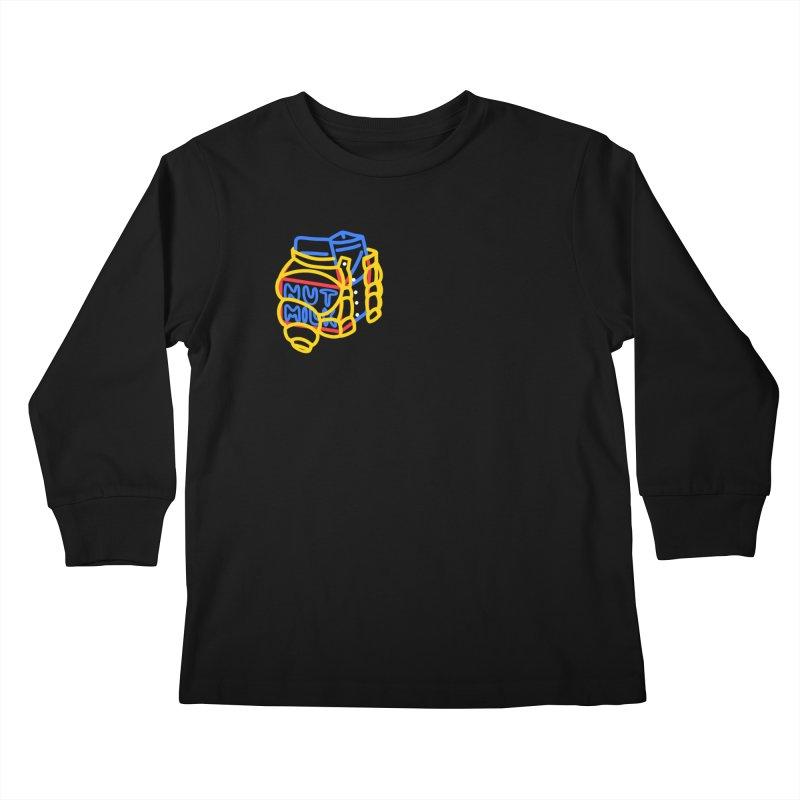 MUT NILK Kids Longsleeve T-Shirt by stephupsidefrown's Artist Shop