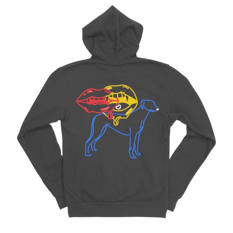 BAD B<3TCHES BITE BACK Men's Sponge Fleece Zip-Up Hoody by stephupsidefrown's Artist Shop