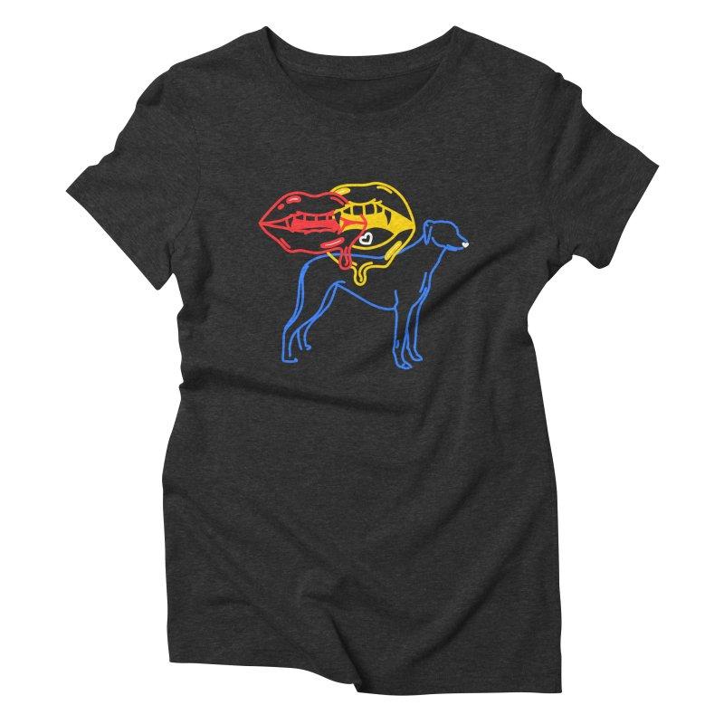 BAD B<3TCHES BITE BACK Women's Triblend T-Shirt by stephupsidefrown's Artist Shop