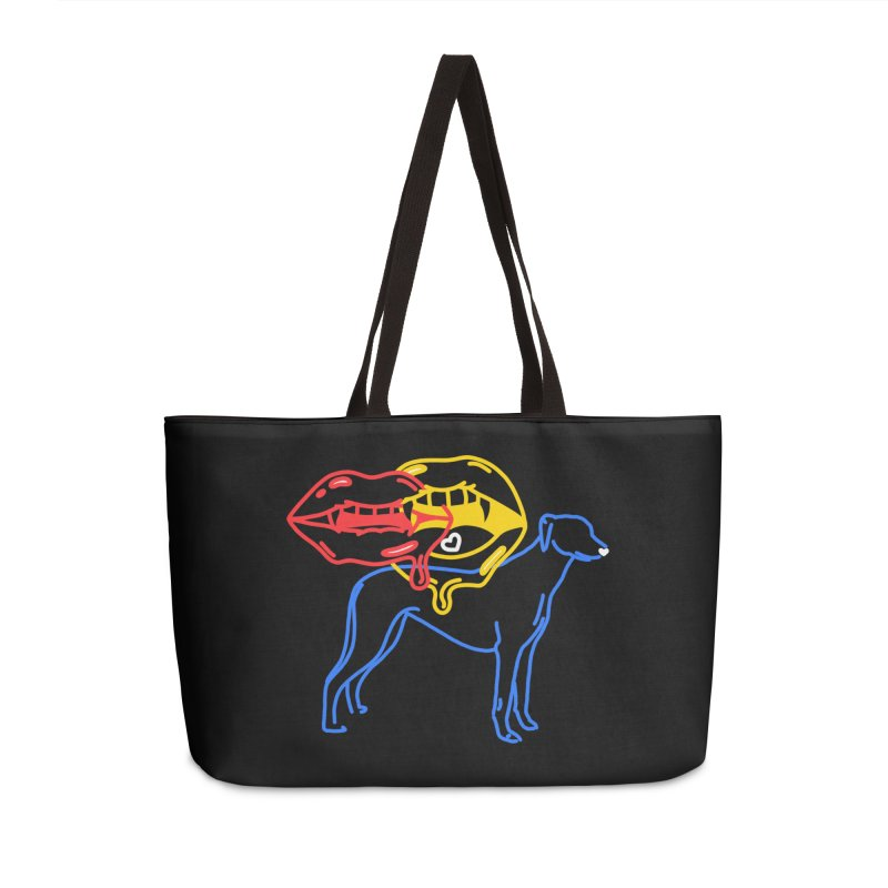 BAD B<3TCHES BITE BACK Accessories Weekender Bag Bag by stephupsidefrown's Artist Shop