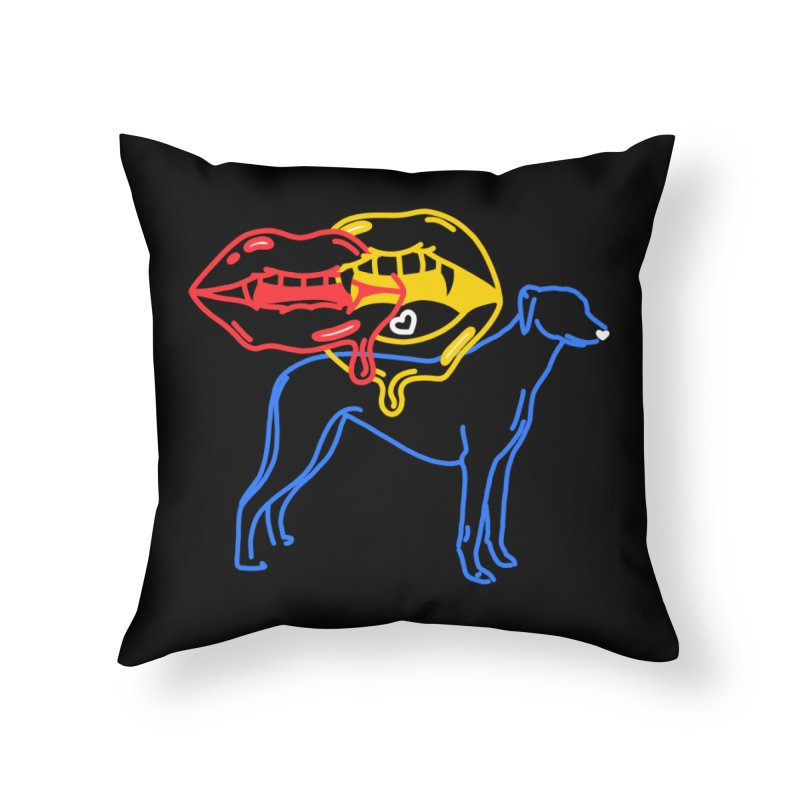 BAD B<3TCHES BITE BACK Home Throw Pillow by stephupsidefrown's Artist Shop