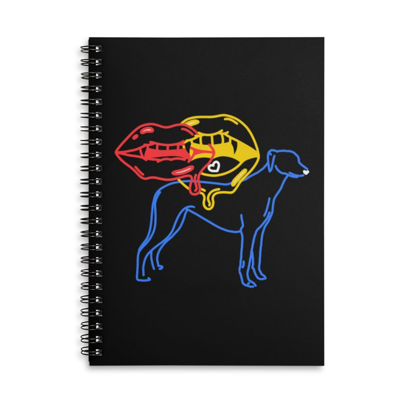 BAD B<3TCHES BITE BACK Accessories Lined Spiral Notebook by stephupsidefrown's Artist Shop