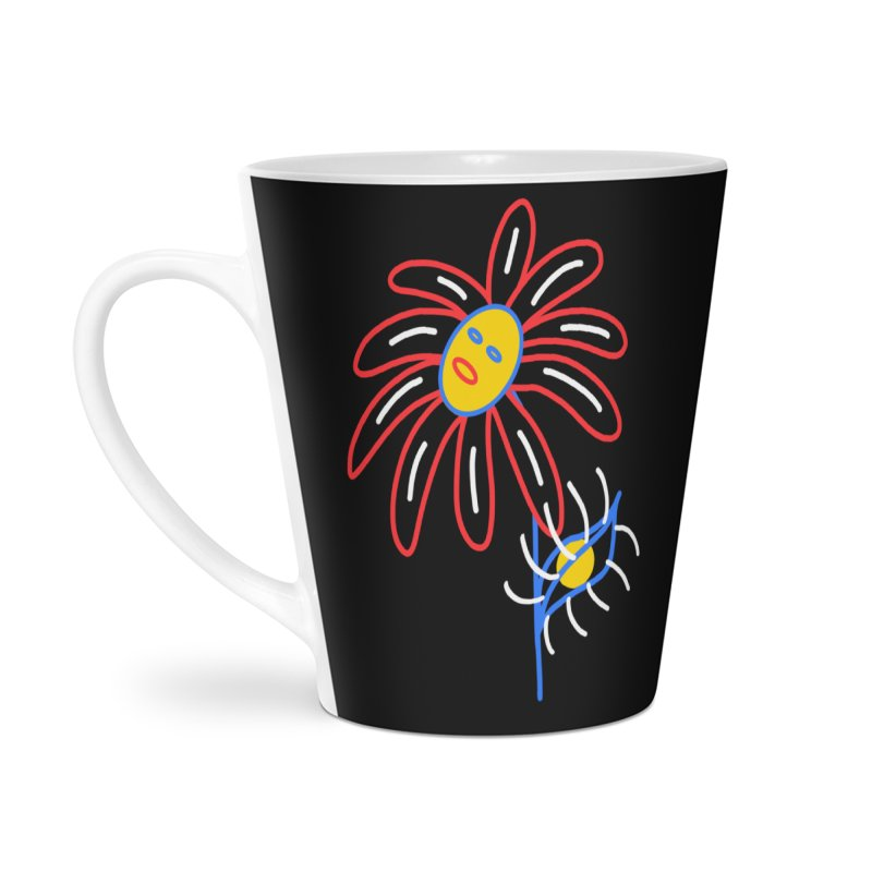 METAL PETALS Accessories Latte Mug by stephupsidefrown's Artist Shop