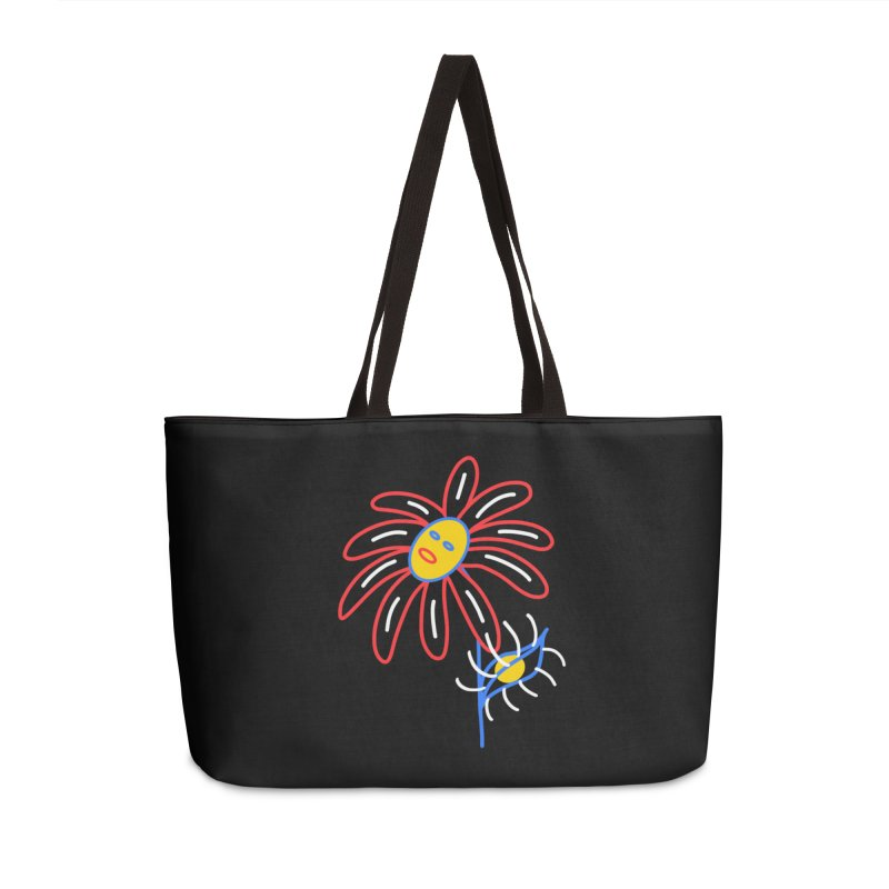 METAL PETALS Accessories Weekender Bag Bag by stephupsidefrown's Artist Shop
