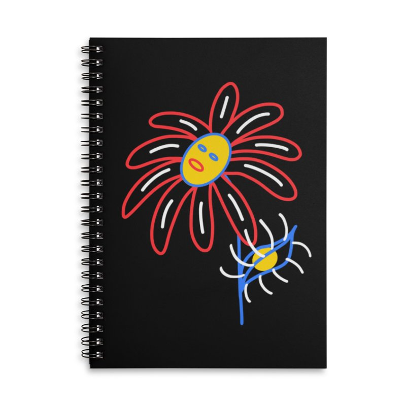 METAL PETALS Accessories Lined Spiral Notebook by stephupsidefrown's Artist Shop