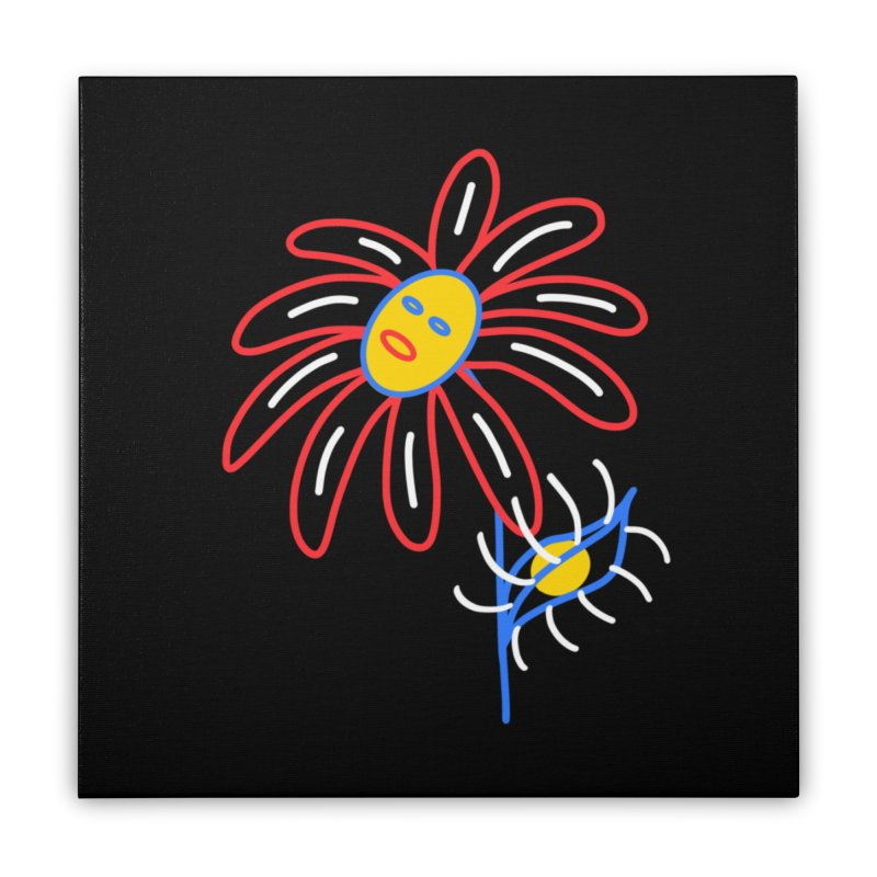 METAL PETALS Home Stretched Canvas by stephupsidefrown's Artist Shop