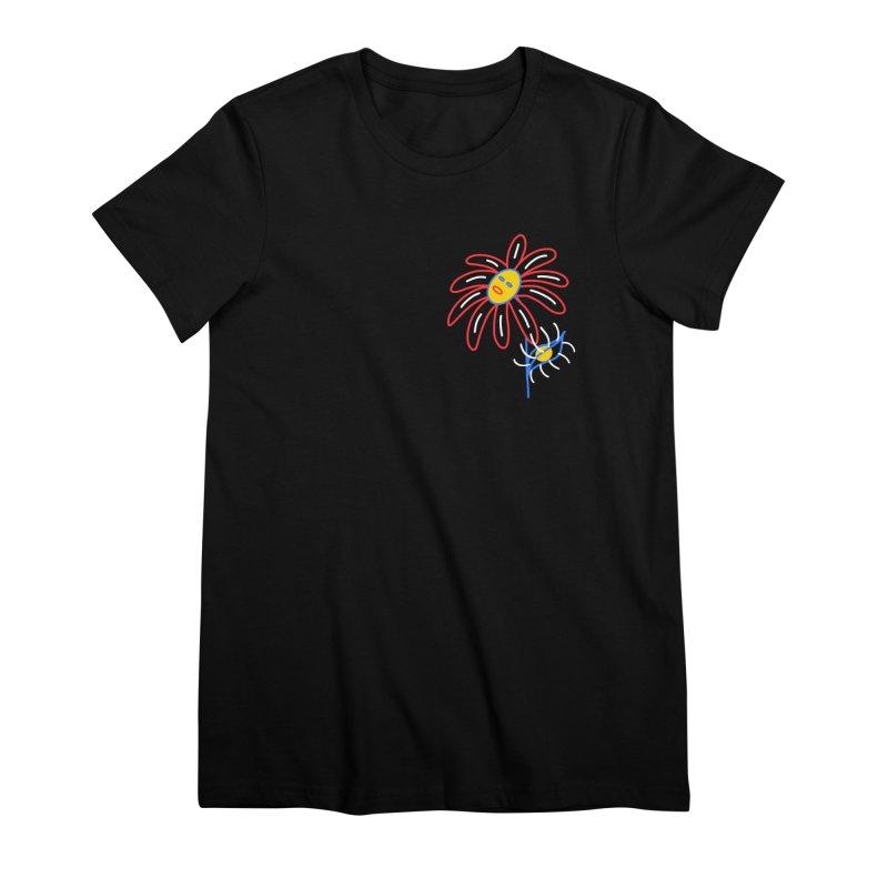 METAL PETALS Women's Premium T-Shirt by stephupsidefrown's Artist Shop