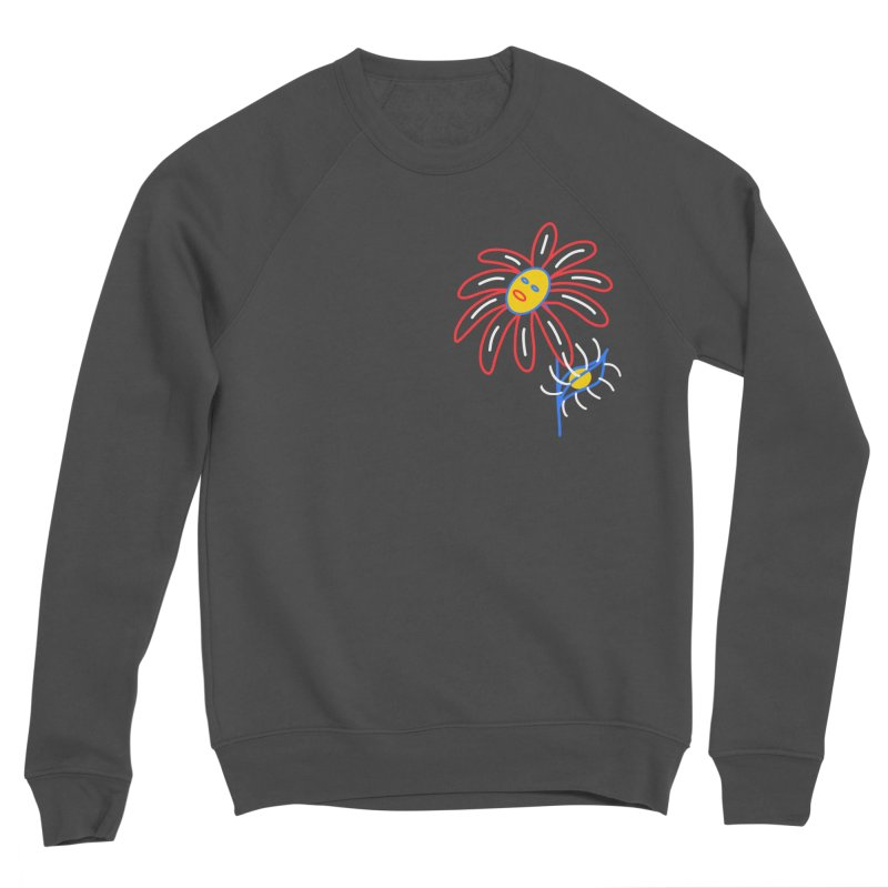 METAL PETALS Women's Sponge Fleece Sweatshirt by stephupsidefrown's Artist Shop
