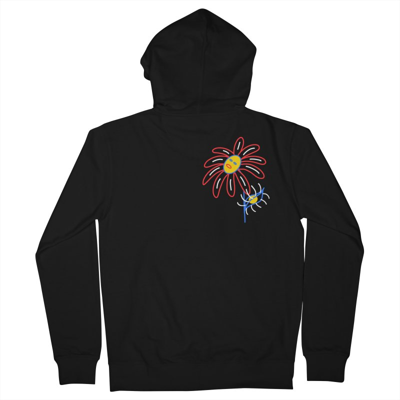 METAL PETALS Women's French Terry Zip-Up Hoody by stephupsidefrown's Artist Shop